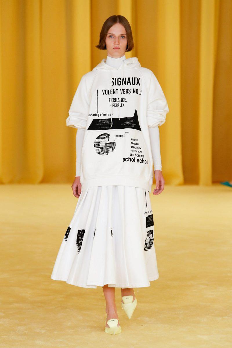 Модный тренд в одежде 2021. Фото из коллекции Prada