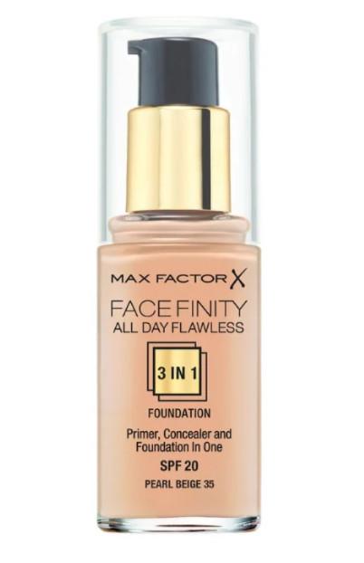 TOP-7 среди лучших тональных кремов для жирной и комбинированной кожи Max Factor Facefinity All Day Flawless 3-in-1