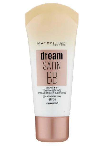 TOP-3 среди лучших тональных кремов для жирной и комбинированной кожи Maybelline New York BB Dream Satin