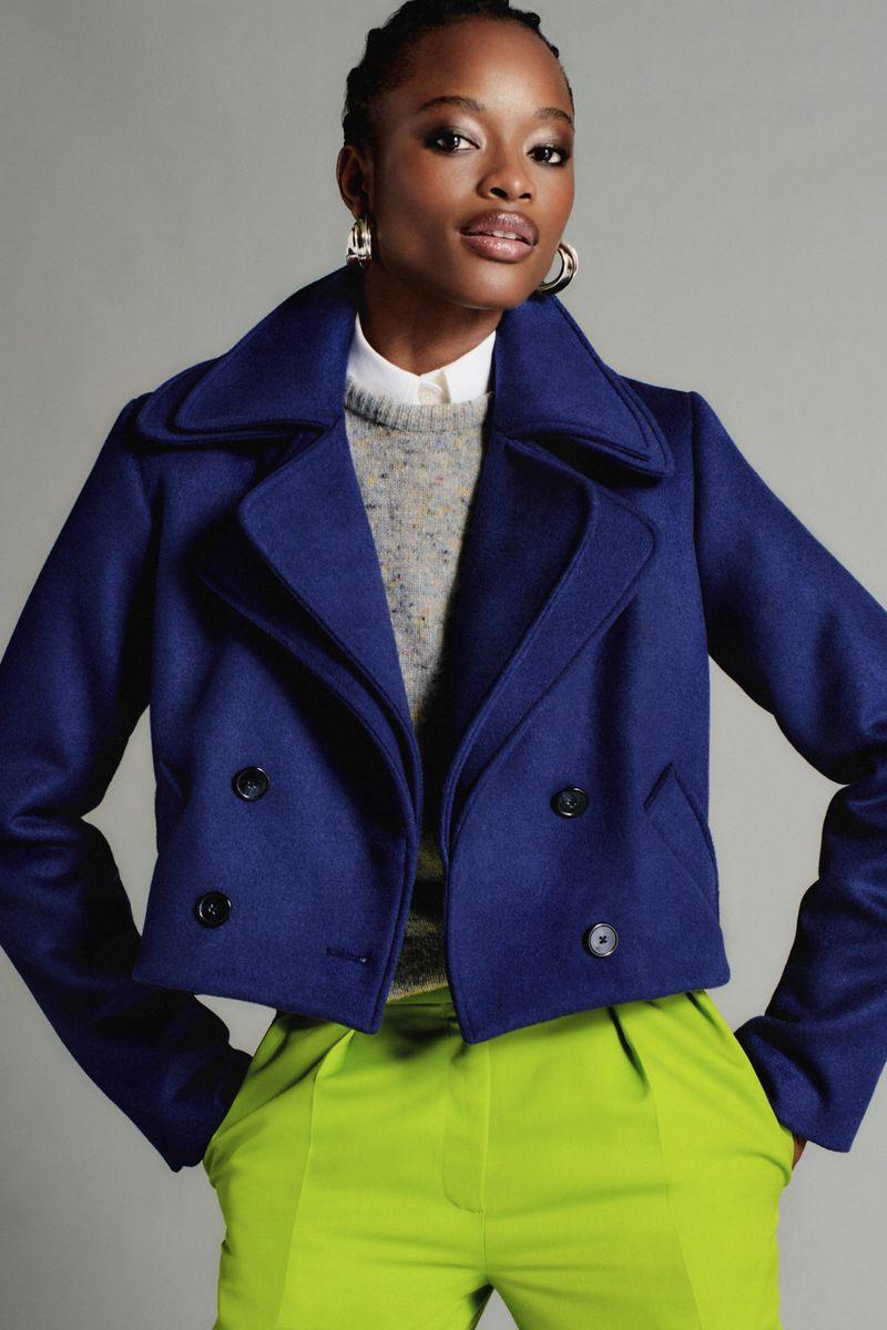 Модный пиджак из коллекции весна-лето 2021 Brandon Maxwell