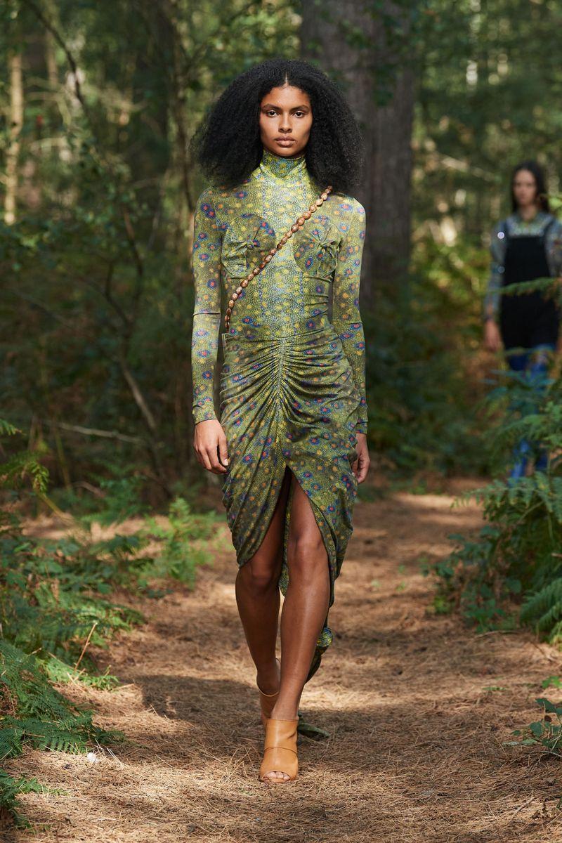 Модное платье весна-лето 2021 из коллекции Burberry