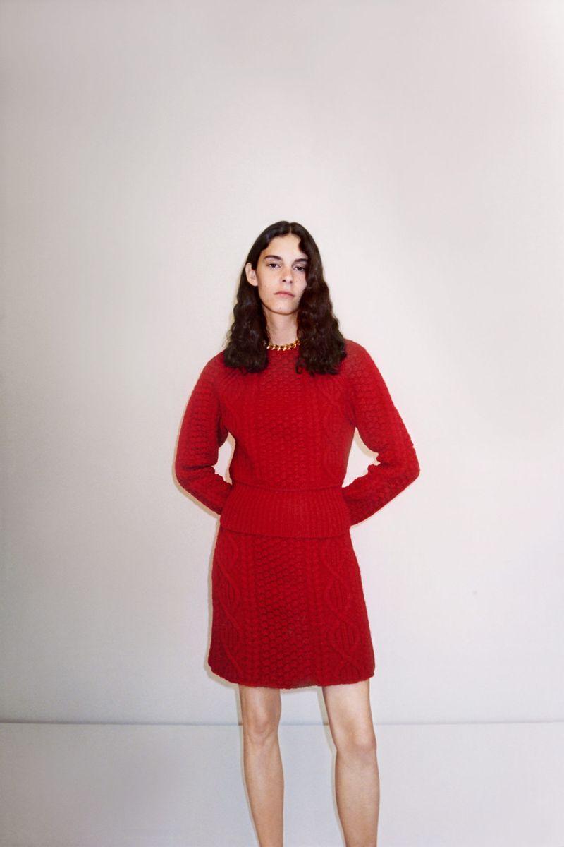 Модная юбка весна-лето 2021 из коллекции Bottega Veneta
