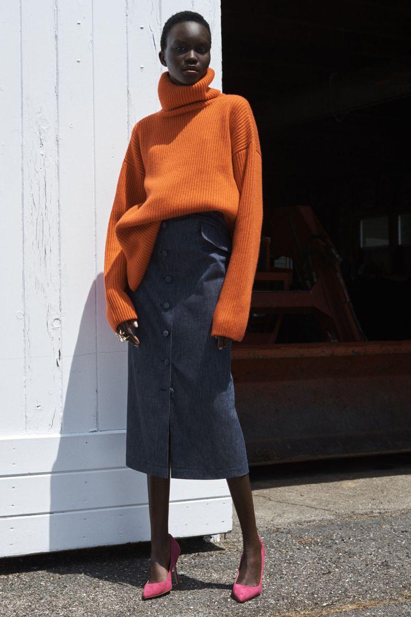 Модная юбка весна-лето 2021 из коллекции Carolina Herrera