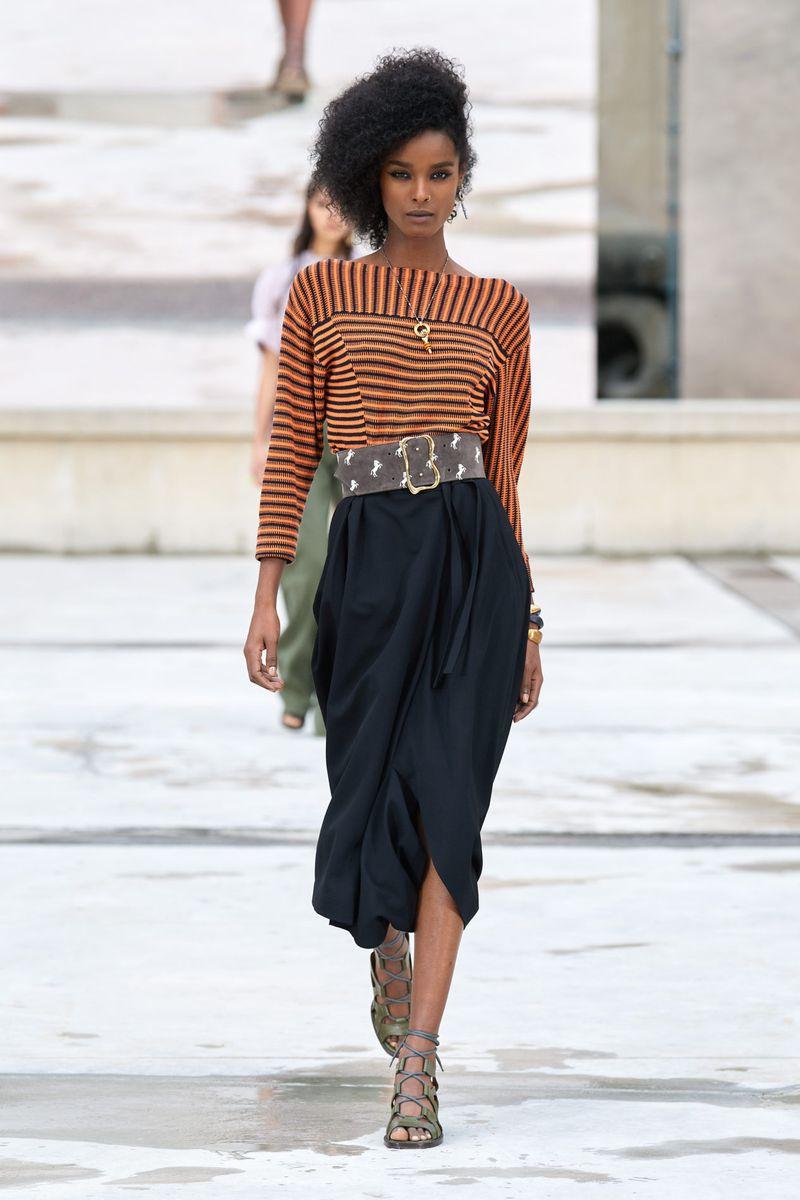 Модная юбка весна-лето 2021 из коллекции Chloé