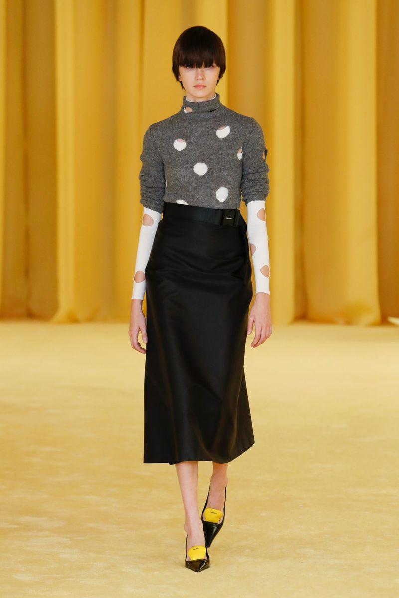 Модная юбка весна-лето 2021 из коллекции Prada