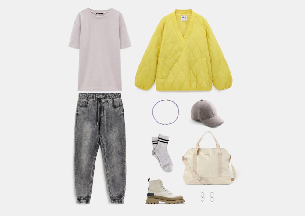 С чем носить джинсовые джоггеры: модные образы