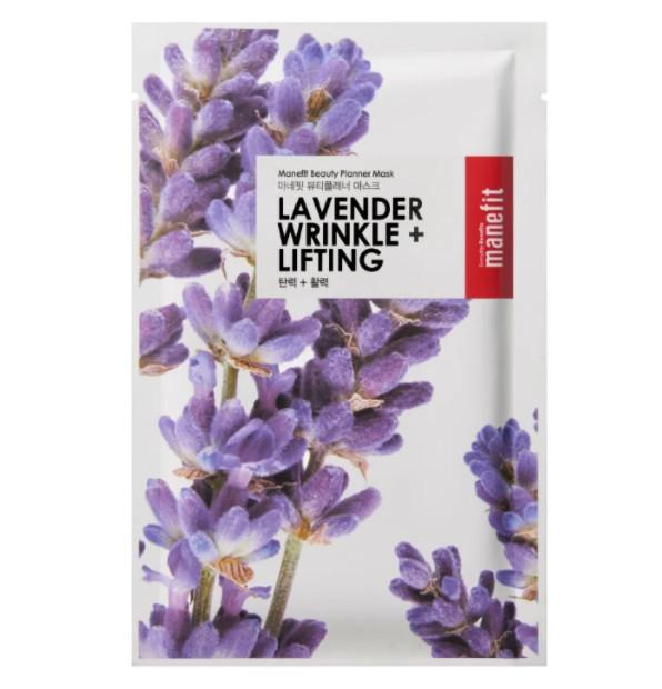 ТОП-12 в рейтинге тканевых масок для лица Manefit Wrinkle And Lifting с лавандой