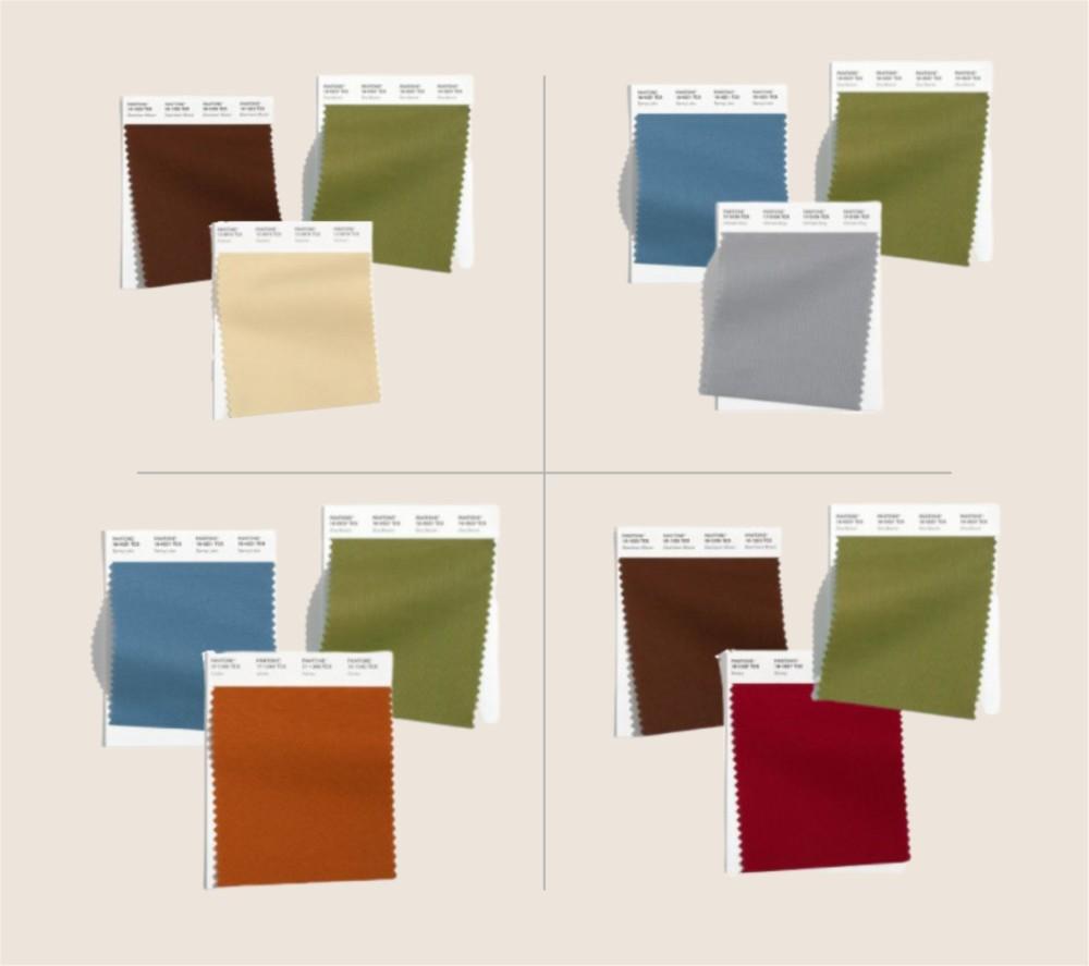 Цветовые комбинации с оливковым