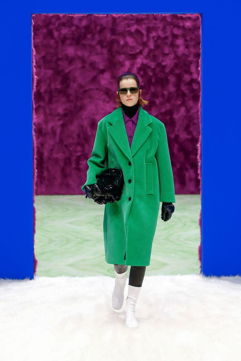 Модное пальто осень-зима 2021-2022 из коллекции Prada
